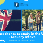 Webinar January Intake, study in the UK